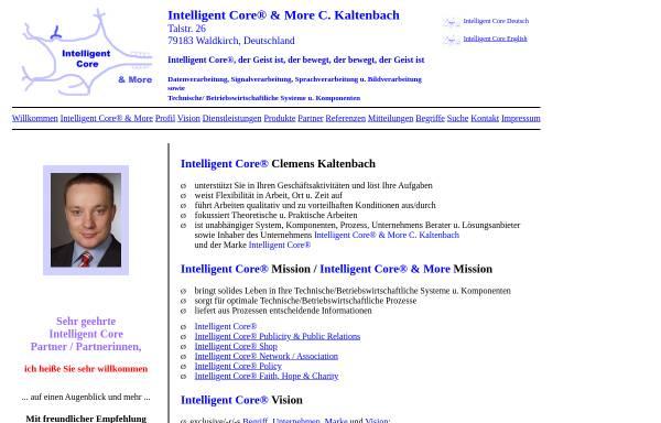 Vorschau von www.intelligent-core.de, Intelligent Core & More C. Kaltenbach