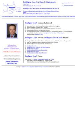 Vorschau der mobilen Webseite www.intelligent-core.de, Intelligent Core & More C. Kaltenbach