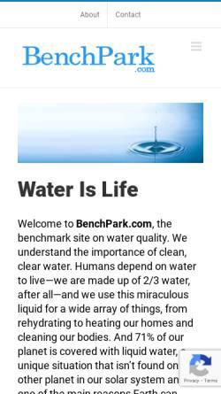 Vorschau der mobilen Webseite www.benchpark.com, Benchpark