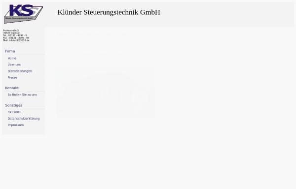 Vorschau von www.ks3010.de, Klünder Steuerungstechnik GmbH