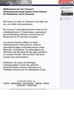 Vorschau der mobilen Webseite www.connect-gmbh.de, ConnecT Informationstechnik GmbH