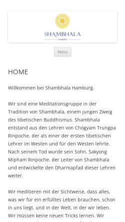 Vorschau der mobilen Webseite hamburg.shambhala.info, Shambhala Meditationszentrum