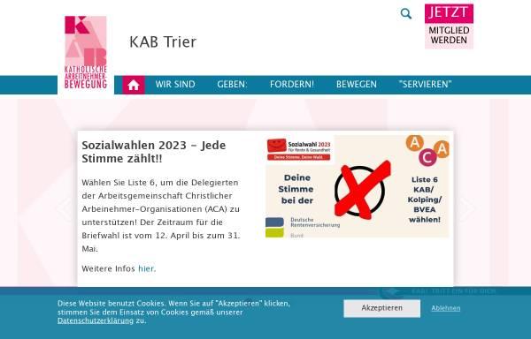 Vorschau von www.kab-trier.de, KAB Katholische Arbeitnehmerbewegung Diözesanverband Trier