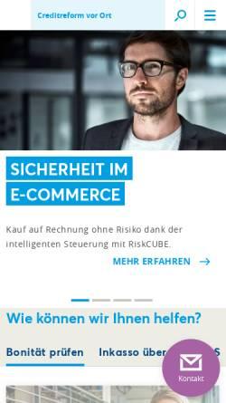 Vorschau der mobilen Webseite www.creditreform.ch, Schweizer Verband Creditreform