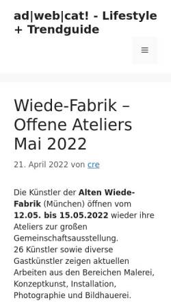 Vorschau der mobilen Webseite www.adwebcat.com, ad|web|cat!