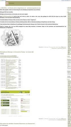 Vorschau der mobilen Webseite archiv.twoday.net, Archivalia