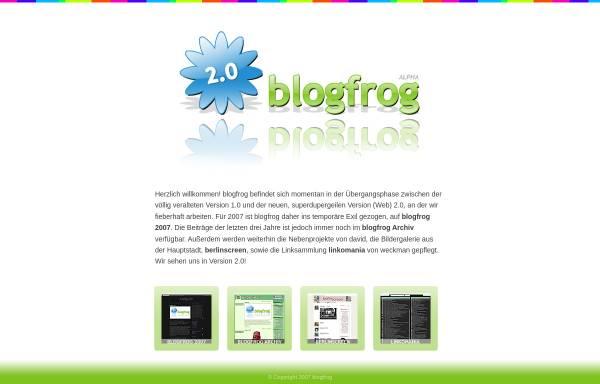 Vorschau von www.blogfrog.de, Blogfrog