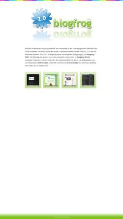 Vorschau der mobilen Webseite www.blogfrog.de, Blogfrog