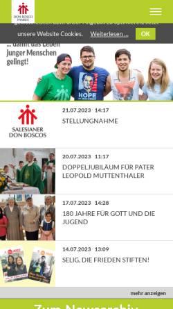 Vorschau der mobilen Webseite blogs.donbosco.at, Don Bosco Österreich