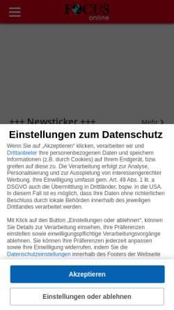 Vorschau der mobilen Webseite blog.focus.de, Focus Blogs