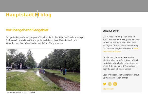 Vorschau von www.hauptstadtblog.de, Hauptstadtblog
