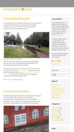 Vorschau der mobilen Webseite www.hauptstadtblog.de, Hauptstadtblog