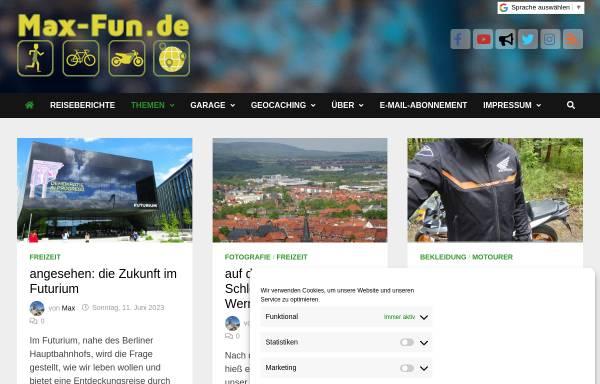 Vorschau von blog.max-fun.de, Max' und Vio's Schreibblog