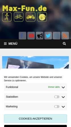 Vorschau der mobilen Webseite blog.max-fun.de, Max' und Vio's Schreibblog