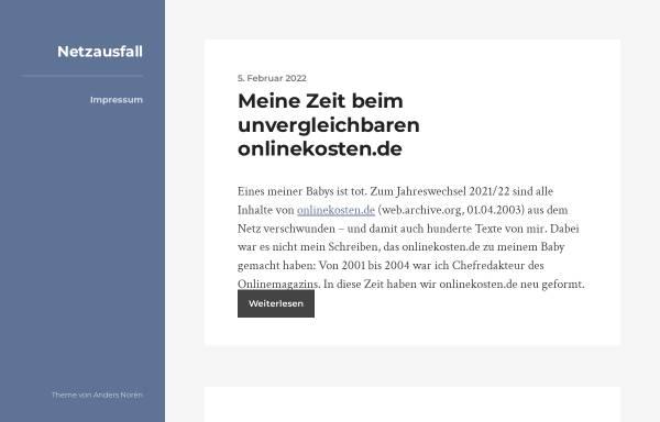 Vorschau von www.netzausfall.de, Netzausfall.de