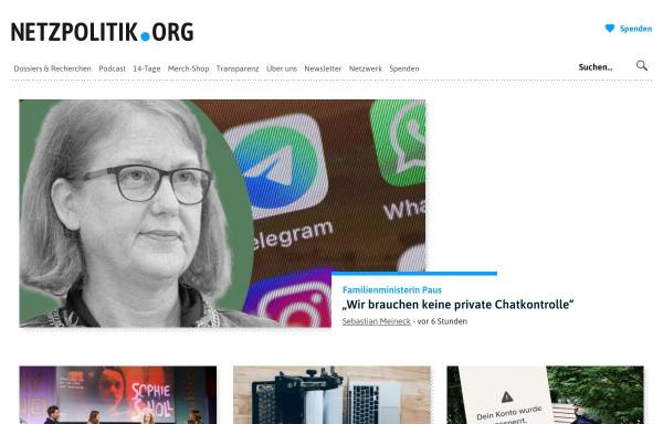 Vorschau von netzpolitik.org, Netzpolitik