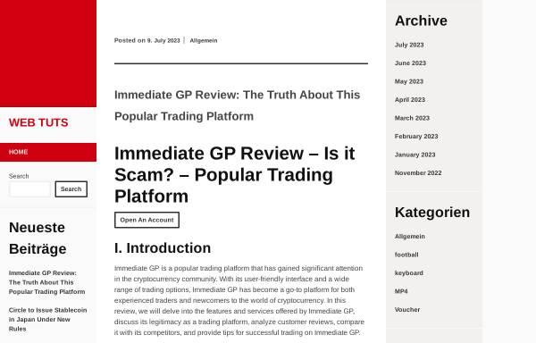 Vorschau von www.web-tuts.de, Web Tuts