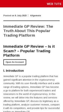 Vorschau der mobilen Webseite www.web-tuts.de, Web Tuts