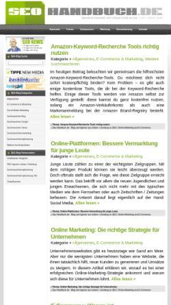 Vorschau der mobilen Webseite www.seo-handbuch.de, Seo-Handbuch.de