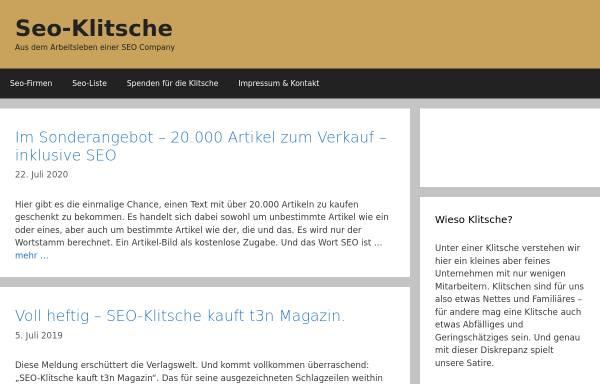 Vorschau von www.seo-klitsche.de, SEO-Klitsche