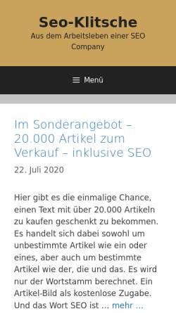 Vorschau der mobilen Webseite www.seo-klitsche.de, SEO-Klitsche