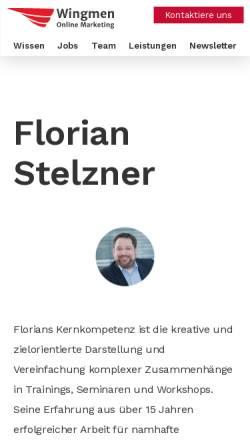 Vorschau der mobilen Webseite www.florian-stelzner.de, Stelzner, Florian