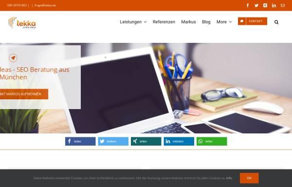 Vorschau von www.tekka.de, Tekka