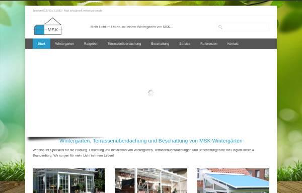 Msk Wintergarten msk wintergärten gmbh in bestensee glasanbauten und überdachungen