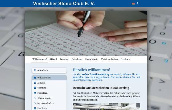 Vorschau von www.stenoclub.de, Vestischer Steno-Club e. V.