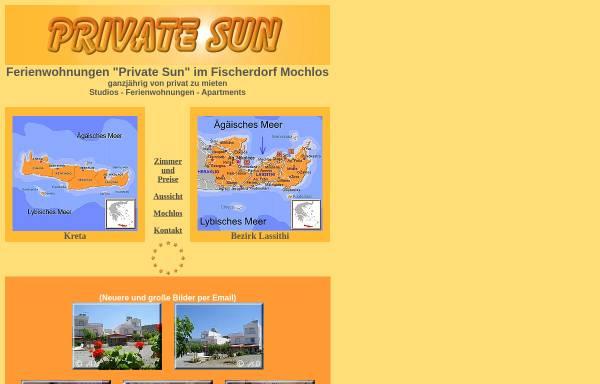 Vorschau von ferienwohnungen-private-sun.ferienwohnungen-insel-kreta.de, Private Sun, Mochlos