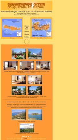 Vorschau der mobilen Webseite ferienwohnungen-private-sun.ferienwohnungen-insel-kreta.de, Private Sun, Mochlos