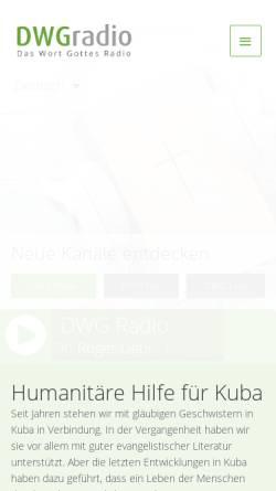 Vorschau der mobilen Webseite dwgradio.net, DWG Radio