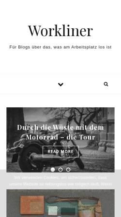 Vorschau der mobilen Webseite www.workliner.de, Workliner Bewerbungs-Portal-Service - Armin Diedenhofen