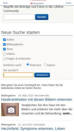 Vorschau der mobilen Webseite www.qualimedic.de, Prostatakrebs