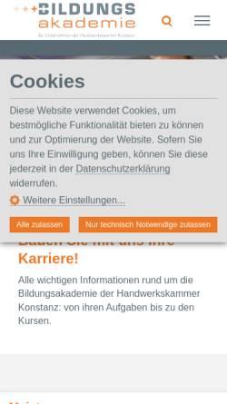 Vorschau der mobilen Webseite www.gewerbe-akademie.de, Gewerbe-Akademie