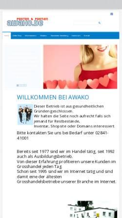 Vorschau der mobilen Webseite www.awako.de, Awako GmbH