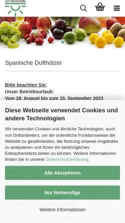 Vorschau der mobilen Webseite www.magicduft.de, Magic-Home Ulrike Zauner & E. Haipl GbR