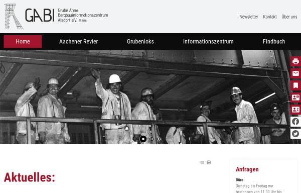 Vorschau von www.bergbaumuseum-grube-anna2.de, Bergbaumuseum Grube Anna II