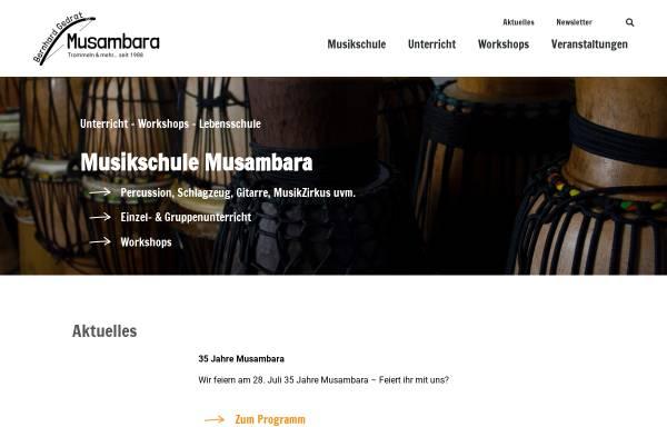 Vorschau von www.musambara.de, Musikwerkstatt Musambara