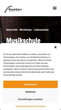 Vorschau der mobilen Webseite www.musambara.de, Musikwerkstatt Musambara