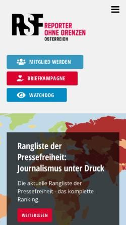 Vorschau der mobilen Webseite www.rog.at, Reporter ohne Grenzen