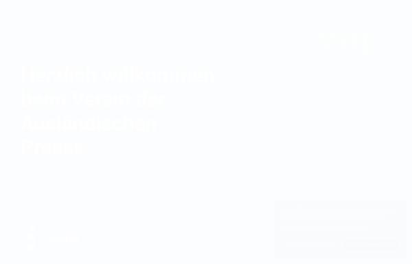 Vorschau von www.vap-deutschland.org, Verein der ausländischen Presse in Deutschland e.V. (VAP)
