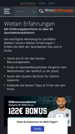 Vorschau der mobilen Webseite www.fussball-forum.de, Fußball Forum