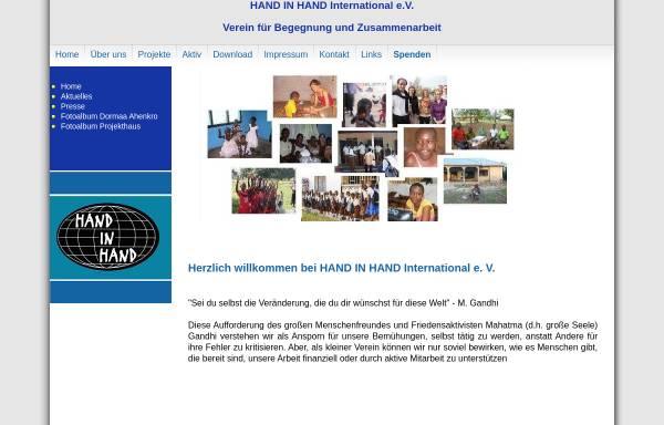 Vorschau von www.hih-international.de, Hand in Hand International e.V.