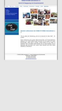 Vorschau der mobilen Webseite www.hih-international.de, Hand in Hand International e.V.
