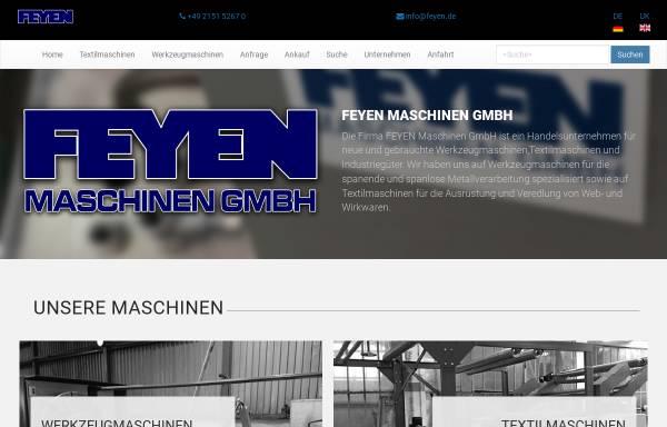 Vorschau von www.feyen.de, Feyen Maschinen GmbH
