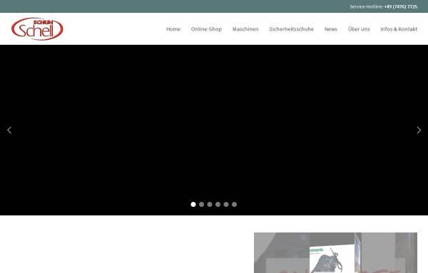 Vorschau von www.schuh-schell.de, Schuh Schell - Herbert Schell