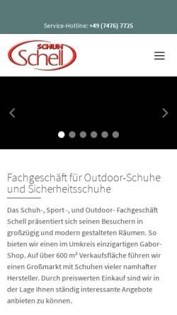 Vorschau der mobilen Webseite www.schuh-schell.de, Schuh Schell - Herbert Schell