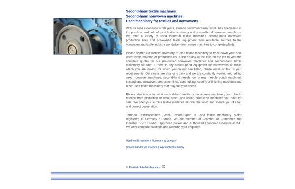 Vorschau von www.tornado-tex.de, Tornado Textilmaschinen GmbH