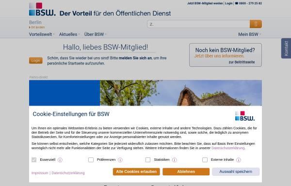 Vorschau von www.bsw.de, BSW. Der BonusClub - BSW Verbraucher-Service GmbH